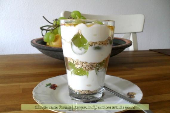 Composta di frutta con avena e quark, ricetta facile, diario di una dieta - Giorno 1, Mangia senza Pancia