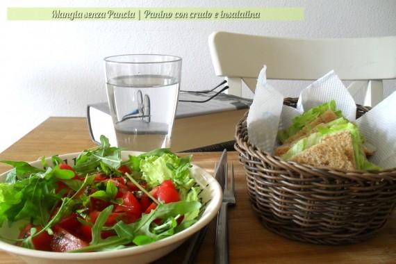 Panino con crudo e insalatina, ricetta veloce, Mangia senza Pancia