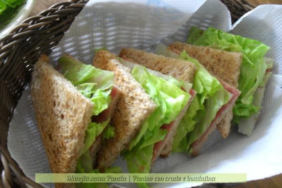 Panino con crudo e insalatina, ricetta veloce, oltre la dieta: il diario - 25 gennaio 2014, Mangia senza Pancia