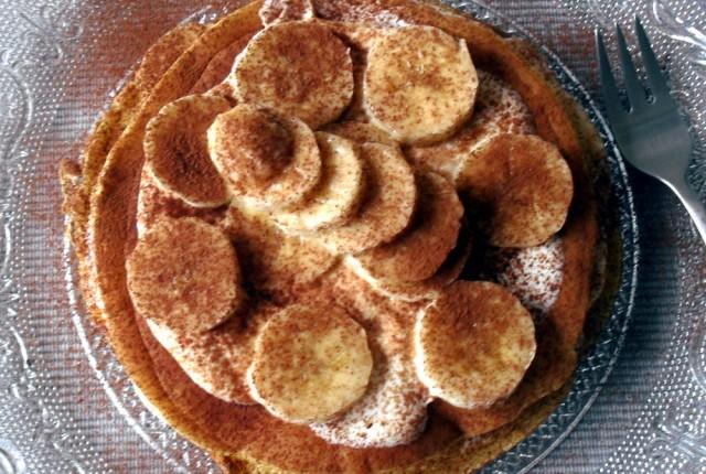 Pancakes leggeri con banana e quark