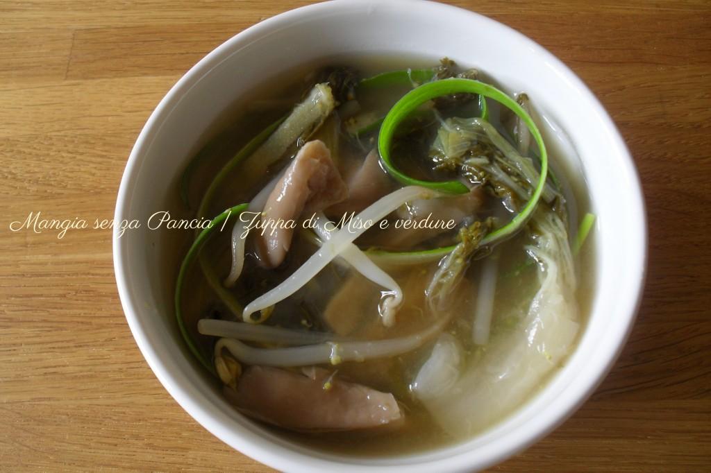 Zuppa di Miso e verdure, ricetta giapponese, Mangia senza Pancia