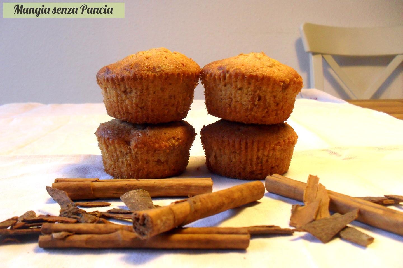 Cupcakes mela e cannella light, Mangia senza Pancia