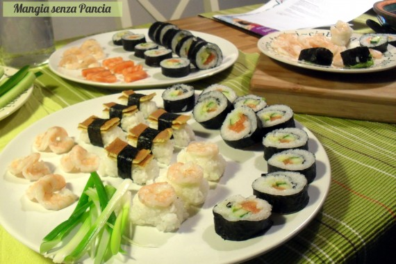 Sushi Futomaki e Nigiri, ricetta giapponese, Mangia senza Pancia
