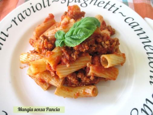Rigatoni alla bolognese light, diario di una dieta - Giorno 219, Mangia senza Pancia