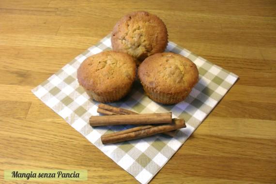 Cupcakes mela e cannella light, diario di una dieta - Giorno 31, Mangia senza Pancia