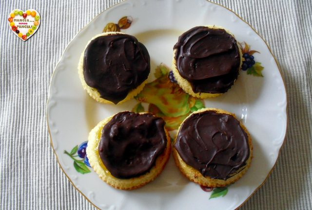 Dolcetti stile Jaffa Cakes, ricetta anglosassone, Mangia senza Pancia