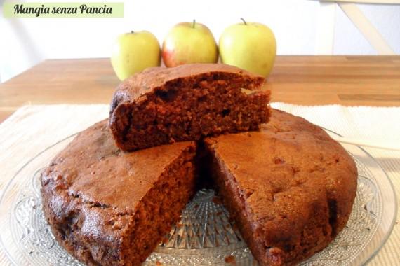 Cupcakes mela e cannella light, versione torta, Mangia senza Pancia