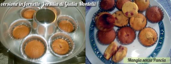 Cupcakes alla frutta light, versione fornetto Versilia di Giulia Montelli, Mangia senza Pancia