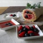Rotolo dolce ai frutti di bosco, ricetta leggera, menu dieta weight watchers, Mangia senza Pancia