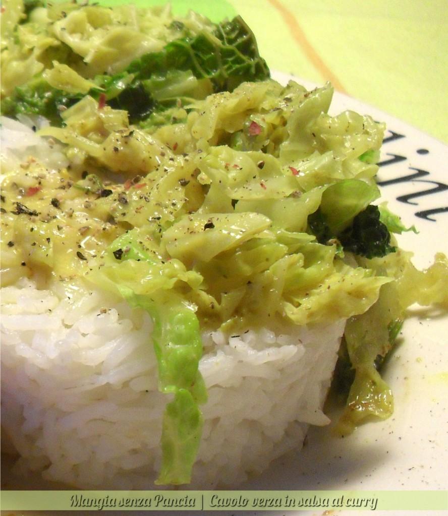 Cavolo verza in salsa al curry, diario di una dieta - Giorno 48, Mangia senza Pancia