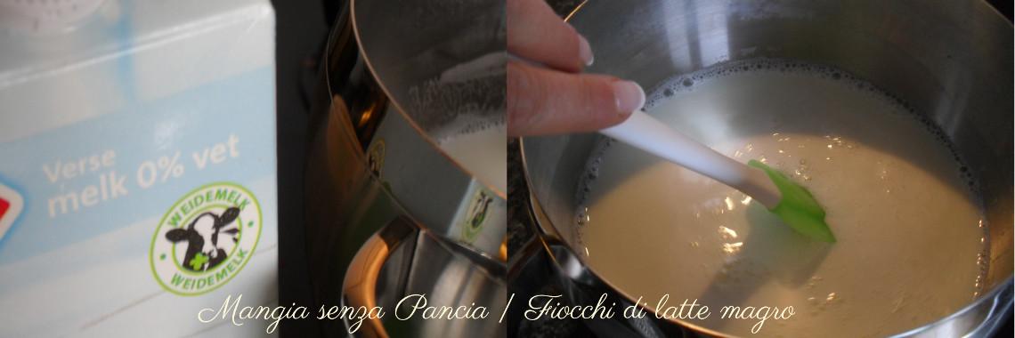 Fiocchi di latte magro, ricetta base, Mangia senza Pancia - preparazione