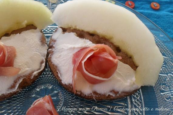Crostini prosciutto e melone, diario di una dieta - Giorno 399, Mangia senza Pancia