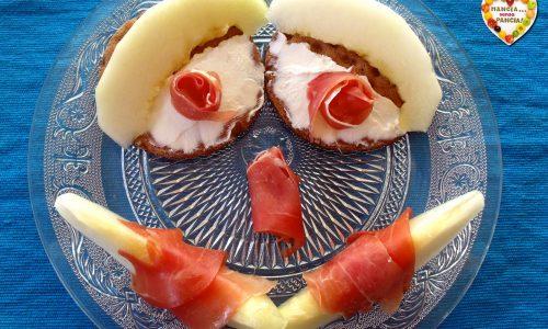 Crostini prosciutto e melone