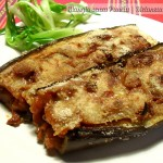 Melanzane a barchetta, ricetta facile, menu dieta weight watchers, Mangia senza Pancia
