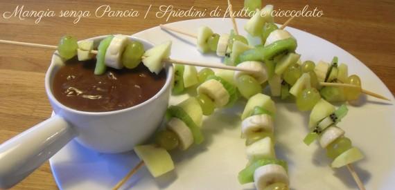Spiedini di frutta al cioccolato, diario di una dieta - Giorno 100, Mangia senza Pancia