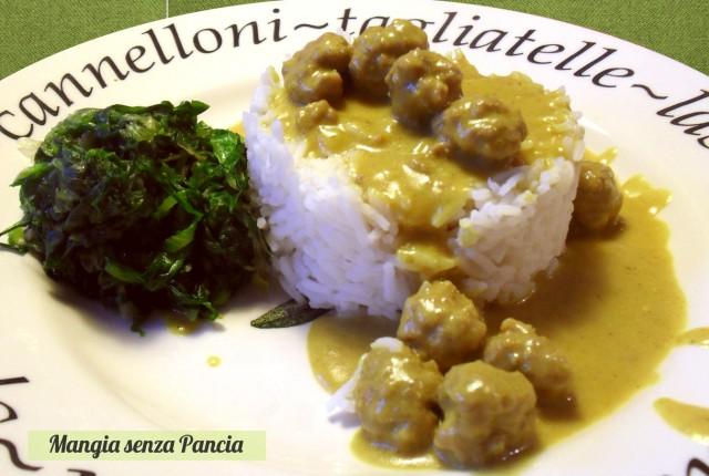 Polpettine al curry light, Mangia senza Pancia