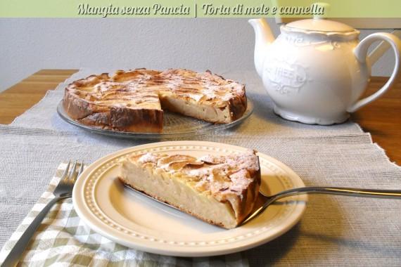 Torta di mele e cannella, ricetta dolce, Mangia senza Pancia