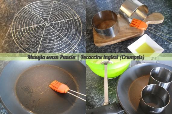 Focaccine inglesi crumpets, ricetta anglosassone, Mangia senza Pancia - preparazione 3