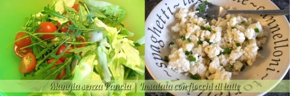Insalata con fiocchi di latte, ricetta veloce, Mangia senza Pancia - preparazione