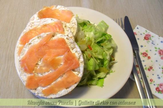 Gallette di riso con salmone, diario di una dieta - Giorno 250, Mangia senza Pancia