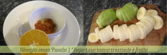 Yogurt con avena croccante e frutta, ricetta nutriente, Mangia senza Pancia