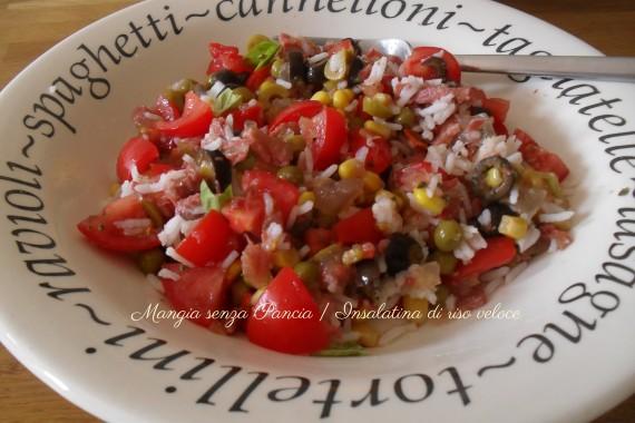 Insalatina di riso veloce, diario di una dieta - Giorno 376, Mangia senza Pancia