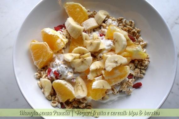 Yogurt frutta e cereali, bips & berries, oltre la dieta: il diario - 26 gennaio 2014, Mangia senza Pancia