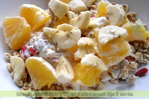 Yogurt frutta e cereali, bips & berries, diario di una dieta - Giorno 421, Mangia senza Pancia
