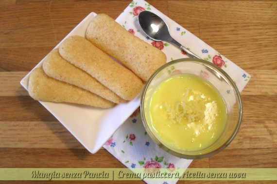Crema pasticcera light, ricetta senza uova, Mangia senza Pancia