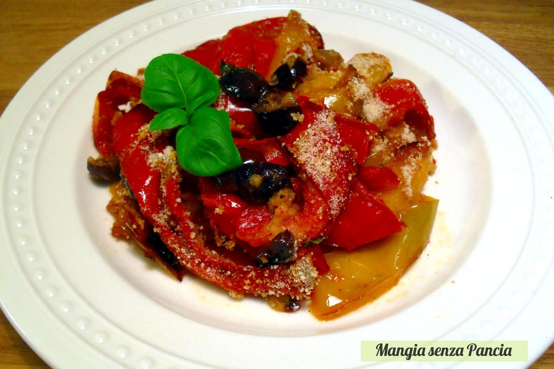 Peperoni a grattè (au gratin)