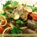 Linguine vongole e pomodorini, ricetta leggera, menu dieta weight watchers, Mangia senza Pancia