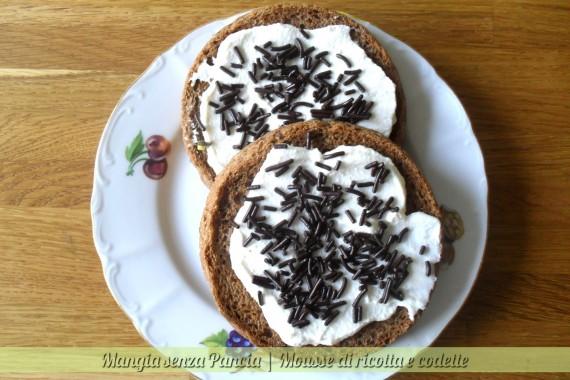 Mousse ricotta e codette di cioccolato, diario di una dieta - Giorno 407, Mangia senza Pancia