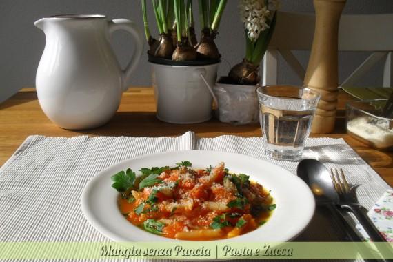 Pasta e zucca, ricetta facile, Mangia senza Pancia