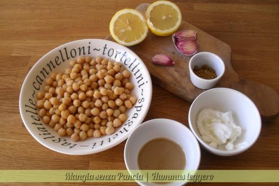 Hummus leggero, ricetta etnica, Mangia senza Pancia
