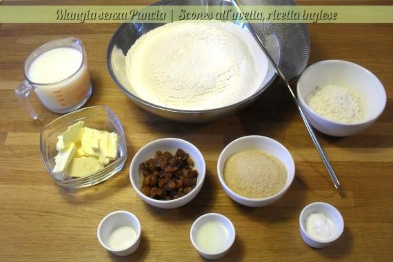 Scones all'uvetta, ricetta inglese, Mangia senza Pancia