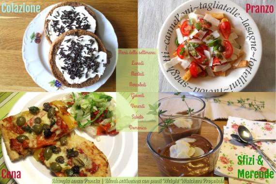Menu settimanale da 26 punti WW Propoints, la dieta Weight Watchers di Mangia senza Pancia