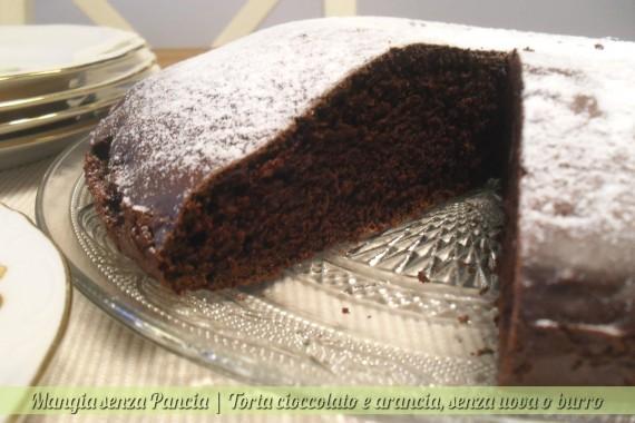 Torta cioccolato e arancia senza uova o grassi