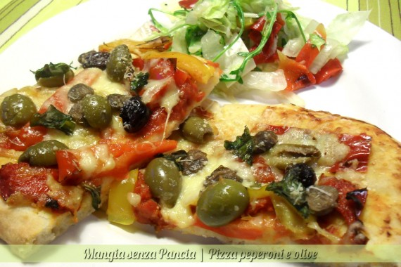 Pizza peperoni e olive, ricetta facile, oltre la dieta: il diario - 19 gennaio 2014, Mangia senza Pancia