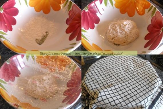 Impasto per pizza a mani pulite, ricetta facile, oltre la dieta: il diario - 28 marzo 2014, Mangia senza Pancia