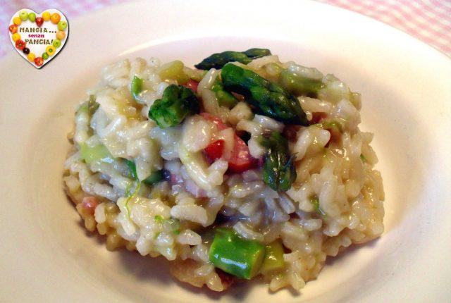 Risotto asparagi e pancetta light,Mangia senza Pancia
