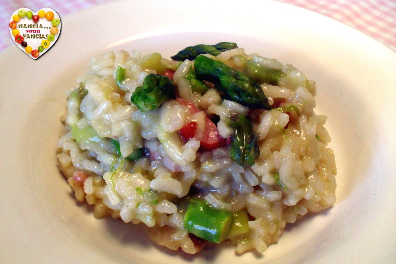 Risotto asparagi e pancetta light