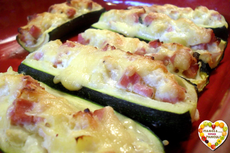 Zucchine ripiene light, Mangia senza Pancia