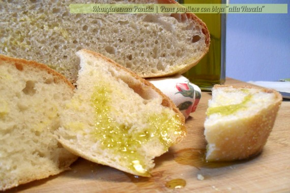 "pane pugliese con biga ""alla Nunzia"", Mangia senza Pancia"