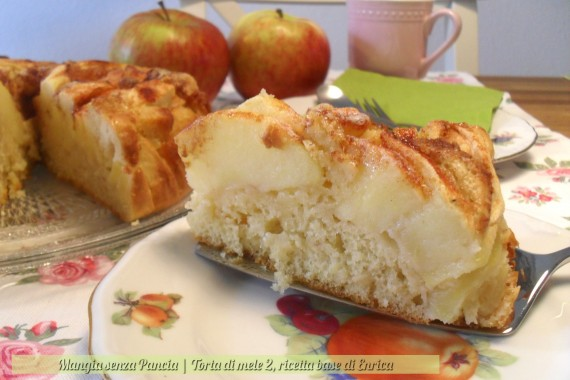 Torta di mele light 2 ricetta di Enrica, diario di una dieta - Giorno 291 - Pesata 41, Mangia senza Pancia