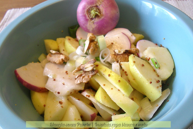 Insalata rapa bianca e mela, ricetta facile, Mangia senza Pancia