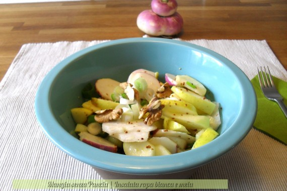 Insalata rapa bianca e mela, diario di una dieta - Giorno 291 - Pesata 41, Mangia senza Pancia