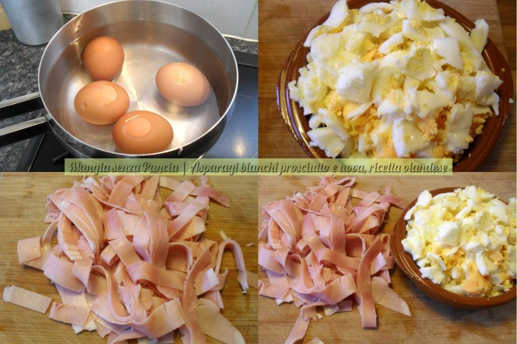 Asparagi bianchi prosciutto e uova, ricetta olandese, Mangia senza Pancia