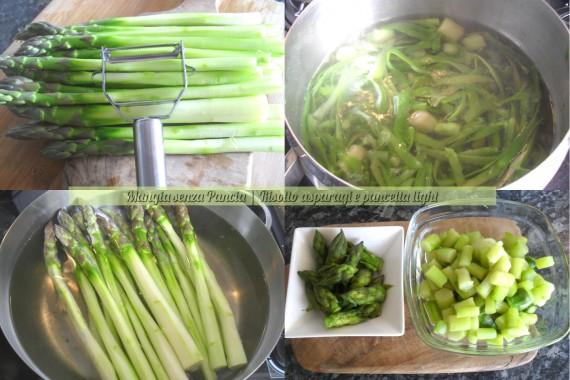 Risotto asparagi e pancetta light, ricetta facile, Mangia senza Pancia