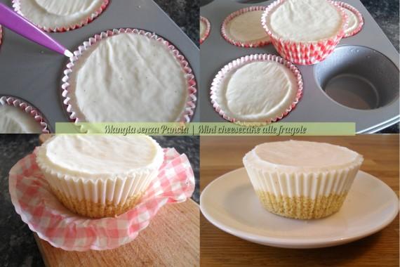 Mini cheesecake light alle fragole, ricetta dolce, Mangia senza Pancia
