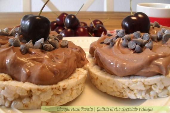Gallette di riso cioccolato e ciliegie, diario di una dieta - Giorno 313, Mangia senza Pancia
